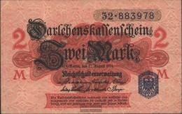 German Empire Rosenbg: 52d, Blue Seal Used (III) 1914 2 Mark - [ 2] 1871-1918 : German Empire