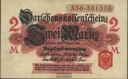 German Empire Rosenbg: 52b, Without Vacuum Seal Red, Series: 476-615 Used (III) 1914 2 Mark - [ 2] 1871-1918 : German Empire