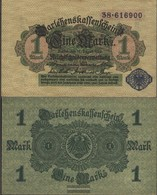 German Empire Rosenbg: 51d, Blue Seal Used (III) 1914 1 Mark - [ 2] 1871-1918 : Duitse Rijk