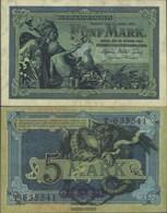 German Empire Rosenbg: 22a, 6stellige Kontrollnummer Used (III) 1904 5 Mark - [ 2] 1871-1918 : German Empire