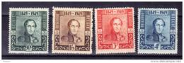 BELGIQUE, COB 807/10 ** MNH . (4TJ162) - Unused Stamps