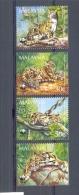 Mzi181s WWF ZOOGDIEREN WILDE KAT CAT LEOPARD MAMMALS MALAYSIA 1995 ONG/MH - W.W.F.