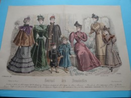 Mode De PARIS ( Journal Des DEMOISELLES > 4 Exempl. ) Format Plier ( Voir Photo Pour DETAIL Svp ) ! - Estampes & Gravures