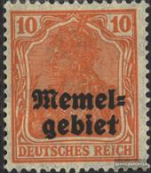 Memelgebiet 14 Unmounted Mint / Never Hinged 1920 Germania-Print - Memel (Klaïpeda)