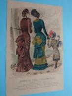 Mode De PARIS ( Journal Des DAMES Et Des DEMOISELLES > 3 Exempl. ) Format Plier ( Voir Photo Pour DETAIL Svp ) ! - Estampes & Gravures