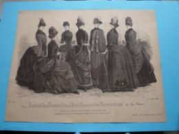 Mode De PARIS ( Journal Des DEMOISELLES Et Petit Courrier .. > 1 Exempl. ) Format Plier ( Voir Photo Pour DETAIL Svp ) ! - Estampes & Gravures