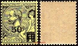 Monaco N°   53 ** Prince Albert Premier - Le 50 C Sur 1f. Noir Sur Jaune - Monaco