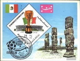 Yemen (UK) Block191 (complete Issue) Fine Used / Cancelled 1970 Football-WM, Mexico - Yemen