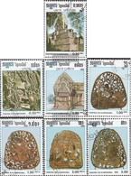 Cambodia 755-761 (complete Issue) Fine Used / Cancelled 1986 Culture The Khmer - Cambodja
