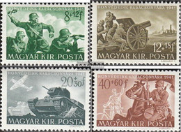 Hungary 682-685 (complete Issue) Unmounted Mint / Never Hinged 1941 Hungarian Soldiers Help - Hungary
