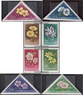 Hungary 1534A-1541A (complete.issue) Fine Used / Cancelled 1958 Flowers - Hungary