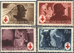 Hungary 749-752 (complete Issue) Unmounted Mint / Never Hinged 1944 Red Cross - Hungary