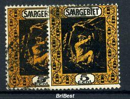 SAAR 1922 Nr 85a+b Sauber Gestempelt (97048) - Deutschland