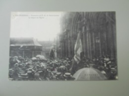 NORD VALENCIENNES PROCESSION DE NOTRE DAME DU SAINT CORDON LE DEPART DE L'EGLISE - Valenciennes