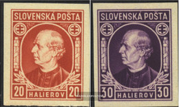 Slovakia 37D-38D, Ungezähnt (complete Issue) Unmounted Mint / Never Hinged 1939 Pater Hlinka - Slovakia