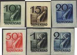 Slovakia 115-120 (complete Issue) Unmounted Mint / Never Hinged 1943 Newspaper Brand - Slovakia