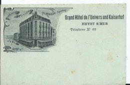 BELGIQUE - HEYST Sur MER - Grand Hôtel De L'univers - Heist