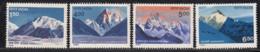 India MNH 1988, Set Of 4, Himalayan Peaks, Nature, Moountain, Glacier, - India