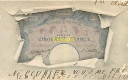 Monnaies, Cp Pionnière, Billet De 50 Francs - Monete (rappresentazioni)