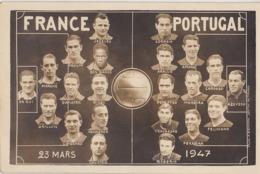 Equipes De FRANCE Et Du PORTUGAL  Lors Du Match Le 23 Mars 1947 - Voetbal