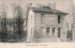 77 Longueville La Poste Bureau PTT Postes Telegraphes Telephones Cpa Carte Ecrite En 1916 - Frankrijk