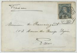 N° 132 / Envel. 1899 Paço De Lisbonne Pour Paris . Ecrite De La Main D'Amélie D'Orléans Reine Du Portugal . Monogramme . - Lettres & Documents