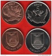 Kiribati Set Of 2 Coins: 1 - 5 Cents 1979-1992 UNC - Kiribati