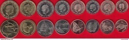 """Tokelau Set Of 8 Coins: 1 Cent - 2 Dollars 2017 """"New Coin Family"""" UNC - Coins"""