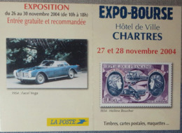 Petit Calendrier De Poche 2005 La Poste Expo Bourse Chartres Timbre Poste Voiture Facel Vega - Small : 2001-...