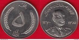 """Afghanistan 5 Afghanis 1961 (1340) """"Muhammed Zahir Shah"""" UNC - Afghanistan"""