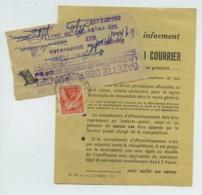 Taxe N° 86 / 2 Bandes Pour Journaux 1957 Avec Redirections . Une Accompagnée D'une Note Explicative . - Marcophilie (Lettres)