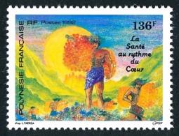 POLYNESIE 1992 - Yv. 408 ** SUP  Faciale= 1,14 EUR - La Santé Au Rythme Du Cœur  ..Réf.POL24619 - Polynésie Française