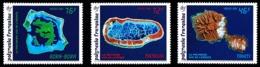 POLYNESIE 1992 - Yv. 405 406 Et 407 ** SUP  Faciale= 1,63 EUR - Iles Vues De L'espace (3 Val.)  ..Réf.POL24618 - Polynésie Française