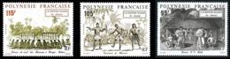 POLYNESIE 1992 - Yv. 410 411 Et 412 ** SUP  Faciale= 2,65 EUR - Le Monde Maohi. Les Danses (3 Val.)  ..Réf.POL24622 - Polynésie Française