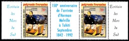 POLYNESIE 1992 - Yv. 418A ** SUP Bdf  Cote= 6,30 EUR - Herman Melville à Tahiti  ..Réf.POL24626 - Polynésie Française