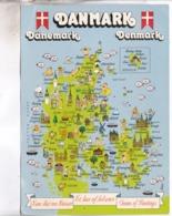 CPM GEANTE CARTE GEOGRAPHIQUE DANEMARK - Denemarken