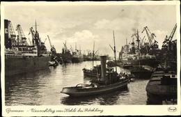 Cp Hansestadt Bremen, Umschlag Von Kohle Bei Röchling - Germany