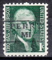USA Precancel Vorausentwertung Preo, Locals Michigan, Perry 871 - Vereinigte Staaten