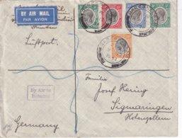 TANGANIKA 1934 PLI AERIEN DE DARESSALAM - Protectorados De África Oriental Y Uganda