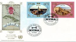 """ONU Vienne 2019 - Unesco - Patrimoine Mondial """"Cuba"""" 6 Timbres Détachés De Carnet De Prestige FDC - FDC"""