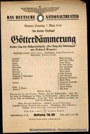 Theaterzettel Götterdämmerung. Dritter Tag Des Bühnenfestspiels Der Ring Des Nibelungen Von Richard Wagner. Weimar, Sonn - Programs