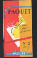 (paquebots) Dépliant PAQUET 1953    Horaires Et Tarifs  MAROC SENEGAL MEDITERRANEE (PPP11402) - Mondo