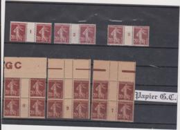 N°139 6 Paires Millésimées Xx - 1906-38 Semeuse Camée