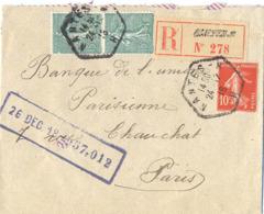 LOIRE ATLANTIQUE :  RECOMMANDÉ NANTES - H  H TàD RECETTE AUXILIAIRE URBAINE Du 24-12-12 - Postmark Collection (Covers)