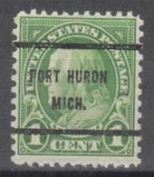 USA Precancel Vorausentwertung Preo, Bureau Michigan, Port Huron 632-61 - Vereinigte Staaten