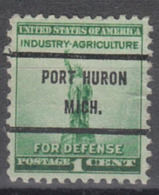 USA Precancel Vorausentwertung Preo, Bureau Michigan, Port Huron 899-71 - Vereinigte Staaten