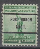 USA Precancel Vorausentwertung Preo, Bureau Michigan, Port Huron 899-71 - Verenigde Staten