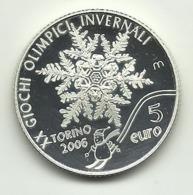 2005 - San Marino 5 Euro Olimpiadi Torino - Senza Confezione - San Marino