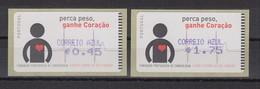 Portugal 2005 ATM Kardiologie Amiel Mi.-Nr. 48.2.2 Satz AZUL 0,45 - 1,75 ** - Frankeervignetten (ATM/Frama)
