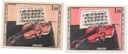 FRANCE -VARIETE - 1965- N++ - Le Violon Rouge, Tableau - 1.00 Fr  Jaune  Clair + 1 Normal- Yvert N° 1459 - Plaatfouten En Curiosa